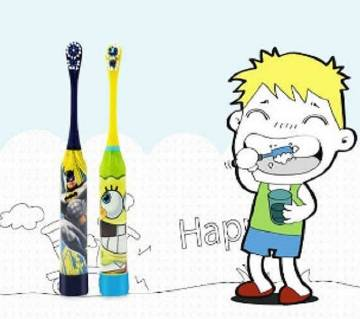 KIDS ELECTRIC TOOTHBRUSH WITH REPLACEMENT HEADS