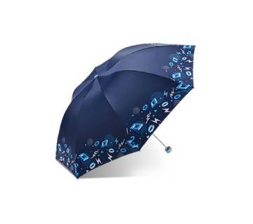 Navy Blue Color Paradise umbrella - Rain and Sun Dual Protection