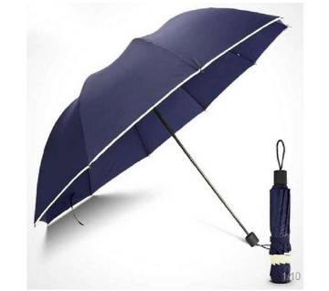 Classic Design 10 Bone Super Strong Umbrella-Navy Blue Color