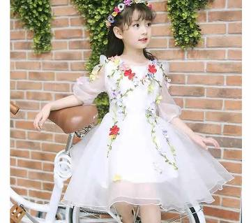 Little Koma Summer flower fairy dress for kids - Pink
