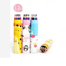 Animal Printing Color Pencil (12Pcs)