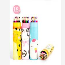 Animal Printing Color Pencil(18Pcs)