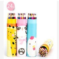 Animal Printing Color Pencil (24Pcs)