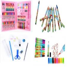 PAINTING, DRAWING & COLORING SET - TOTAL 86 PCS COLOR AND ACCESSORIES