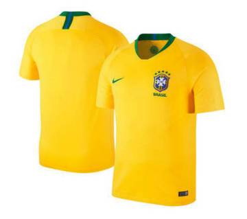 2018 World Cup Brazil Home Half Slave Jersey (Copy)
