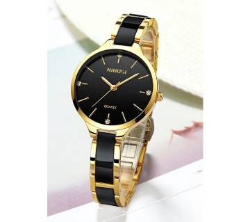 NIBOSI Golden Women Watches Quartz Clock Steel Women Watches