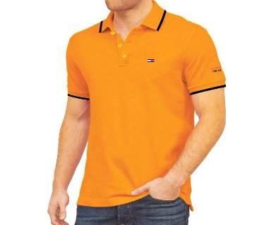 Gents Cotton Polo Shirt-Yellow