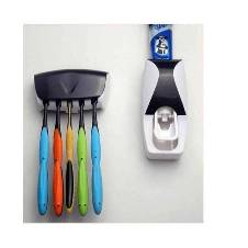 Toothpest Dispenser and Toothbrush Holder Combo