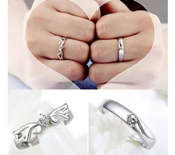 Promise Ring Lovers Crystal Couple Ring