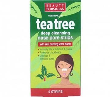 Beauty Formulas Tea Tree নোজ পোর স্ট্রিপস - ৬ পিস (UK)