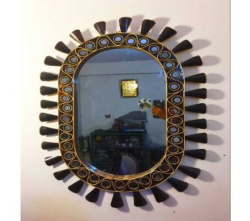 Oval Shape Wooden Mirror
