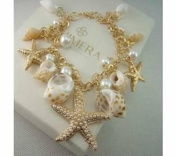 Ocean Starfish Sea Star Pearl Bracelet