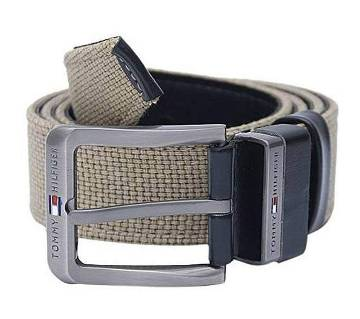 Olive Fabric Casual Belt For Men