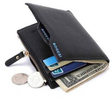Bogesi Short Male Card Holder Designer Famous Brand Small Leather Men Wallet