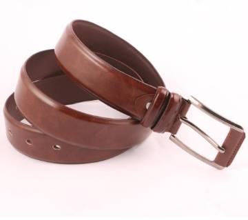 Coffee Mixed Leather Formal Belt For Men