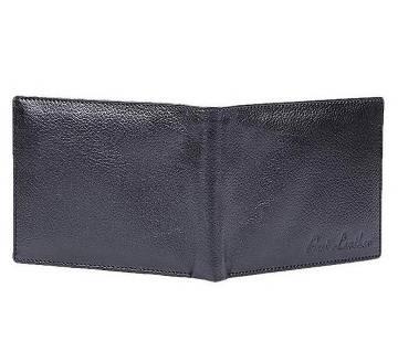 Black Regular Shaped Leather Wallet For Men