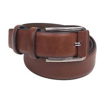 Brown Artificial Leather Belt For Men