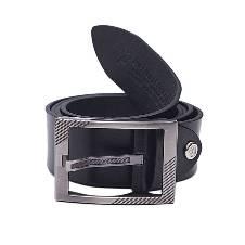 Black Leather Casual Belt for Men