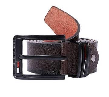 Dark Chocolate Leather Formal Belt