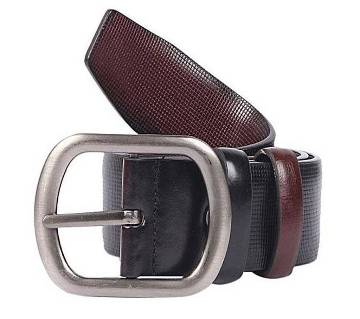 Black Artificial Leather Casual Belt for Men