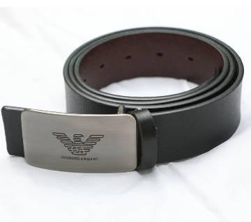 Maverick Leather Casual Belt For Men - Black