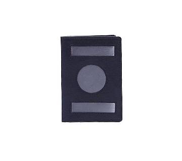 Leather Passport Cover - Black