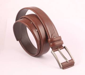 Chocolate PU Leather Formal Belt For Men