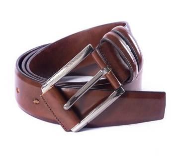 Brown Leather Formal Belt For Men