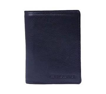 Navy Blue Leather Wallet For Men