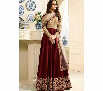 Semi stitched Georgette Embroidery Long Suit copy