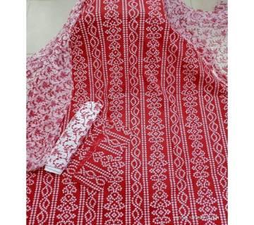 Unstitched Screen Printed Rajdhani Voile Salwar Kameez