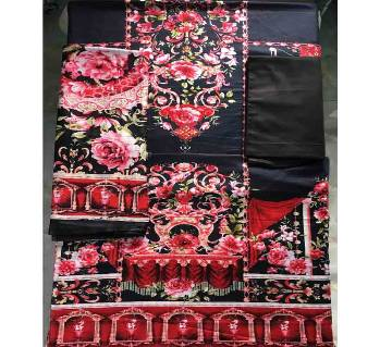 Unstitched Cotton Lawn 3Pcs-CLN002