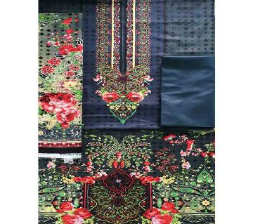 Unstitched Cotton Lawn 3Pcs-CLN001
