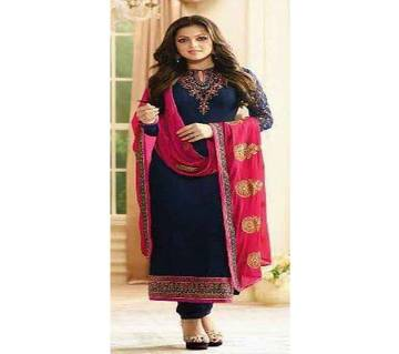 Unstitched Embroidery Georgette Three Piece Copy