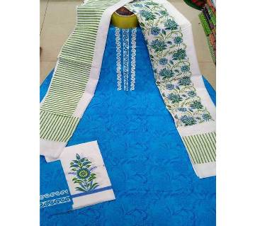 Unstitched Screen Printed Salwar Kameez