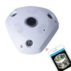 3D VR 360 Wireless Panoramic IP CC Camera