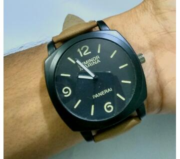 Gents Artificial Leather WristWatch