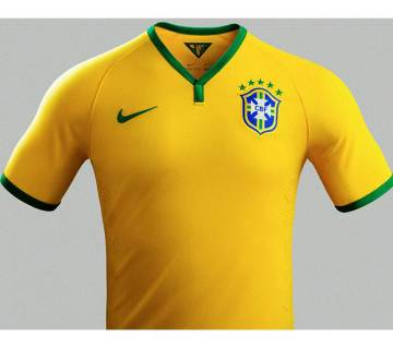 World Cup Brazil Home Jersey Half Sleeve