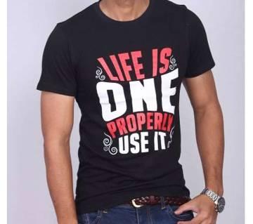 Life Is One Properly Use It হাফ স্লিভ টি-শার্ট ফর মেন
