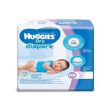 Huggies Baby Diaper Dry Newborn, 0-5kg, 64pcs Belt System
