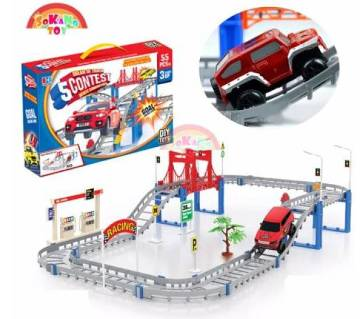 SOKANO TOY DIY Electric Track Car Game