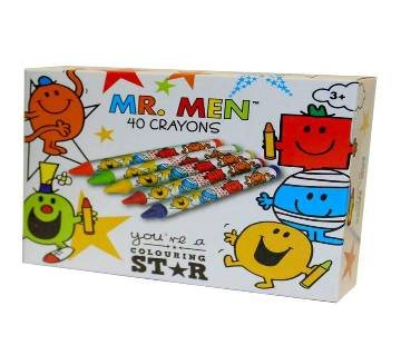 Mr. Men 40 Crayon Set