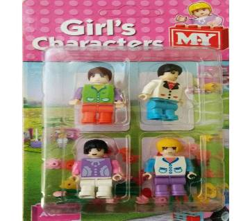 MY 4 Piece Girls Building Blocks Brick Character