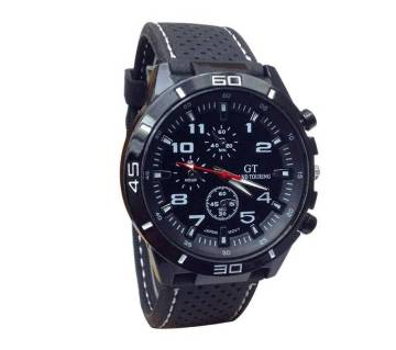 GT Grand Racing Men Military Pilot Silicone Sport Watch