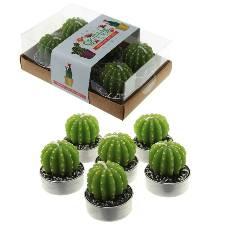 Cactus Tea Light Candles - 6 Pack