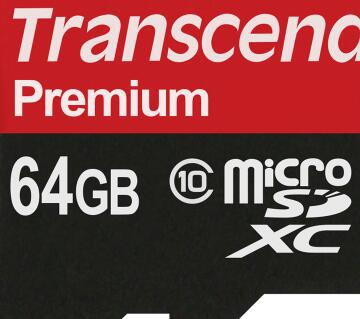 Transcend 64GB Premium memory card with Adapter