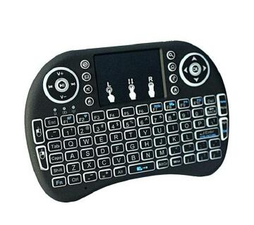 i8B Wireless Backlit Mini Keyboard With Touch Pad  Black