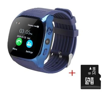 T8 Smartwatch Bluetooth Camera- Blue
