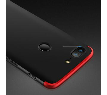 GKK 360 Full Protection cover for Oneplus 5T (Black & Red)