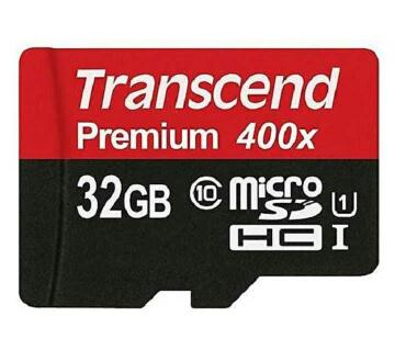 Transcend 32GB Micro SDHC Memory Card